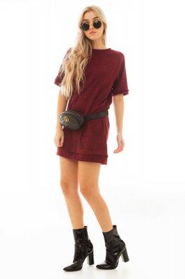Imagem - T-shirt Dress com Estampa Xadrez
