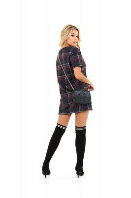 Imagem - T-shirt Dress Xadrez