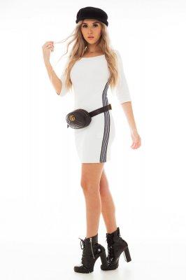 Imagem - Vestido Bandage com Listra Lateral
