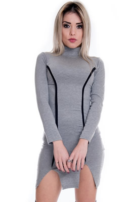 Imagem - Vestido Básico com Detalhe em Filete
