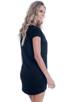 Imagem - Vestido Básico com Estampa Foil