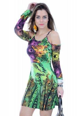 Imagem - Vestido com Recortes no Ombro