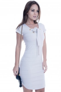 Imagem - Vestido de Neocrepe com Ilhós