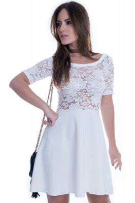 Imagem - Vestido de Neocrepe com Renda