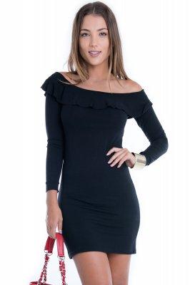Imagem - Vestido de Viscolycra com Tule