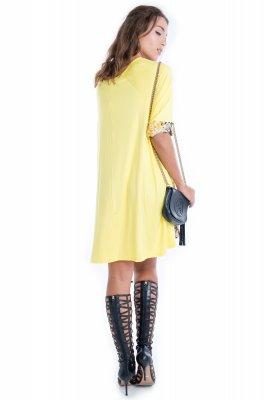 Imagem - Vestido de Viscose com Frente Estampada