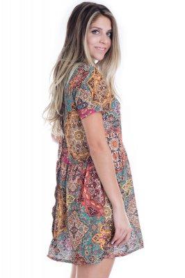 Imagem - Vestido Estampa Jacquard Color