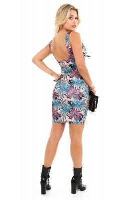 Imagem - Vestido Estampado Decote Laço
