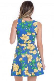 Imagem - Vestido Godê Flowers com Transpasse