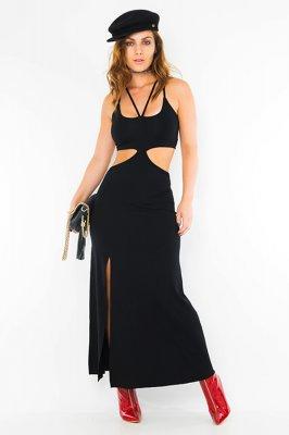 Imagem - Vestido Longo com Recortes