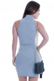 Imagem - Vestido Regata Básico com Gola Alta