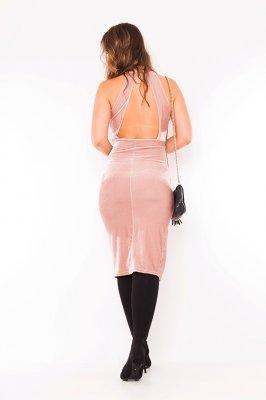 Imagem - Vestido Velvet Decote e Fenda