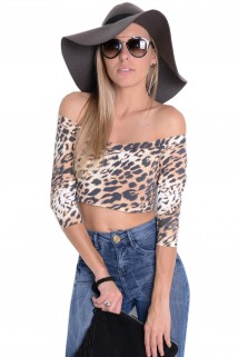 Cropped Decote Canoa