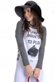 T-shirt Com Estampa