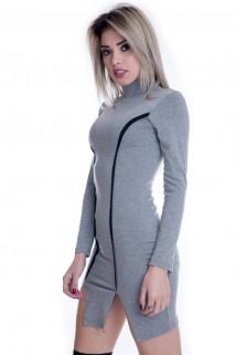 Vestido Básico com Detalhe em Filete