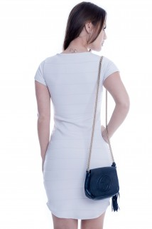Vestido de Neocrepe com Ilhós