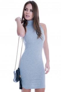 Vestido Regata Básico com Gola Alta