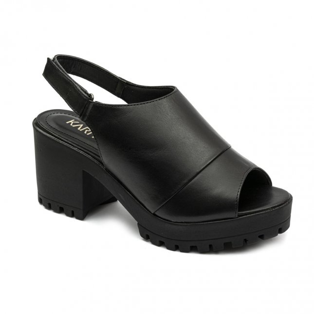 Sandal Boot Couro Tratorada