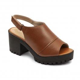 Imagem - Sandal Boot Couro Tratorada Caramelo cód: 046428