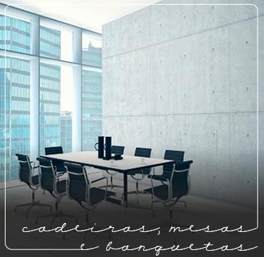 Cadeiras, banquetas e mesas...
