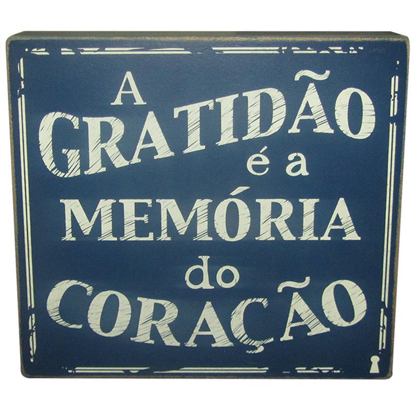 QUADRO BOX GRATIDÃO 25X25CM