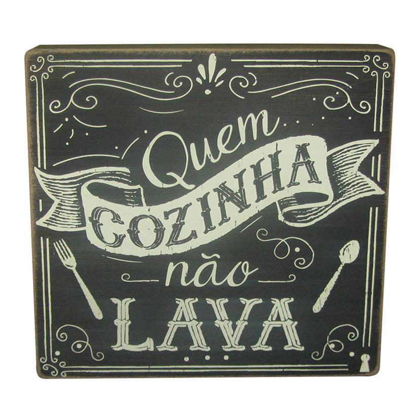 QUADRO BOX QUEM COZINHA NÃO LAVA 25X25CM