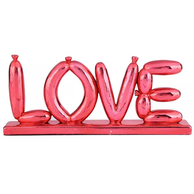 DECOR LETTER BALOON LOVE RED 22X3X10CM