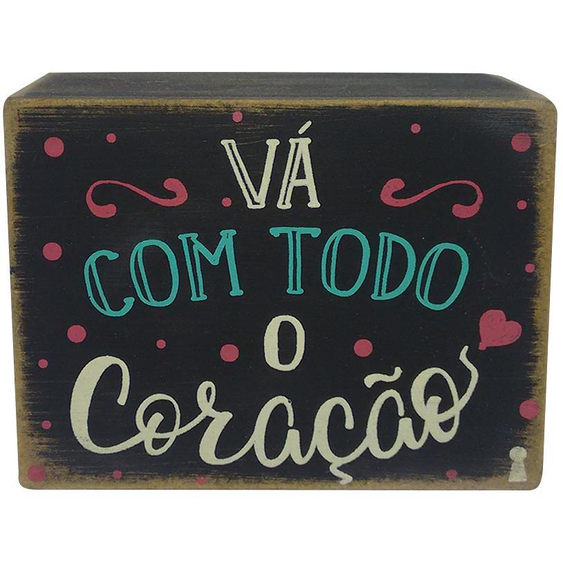 QUADRO BOX VÁ COM O CORAÇÃO 08X10CM