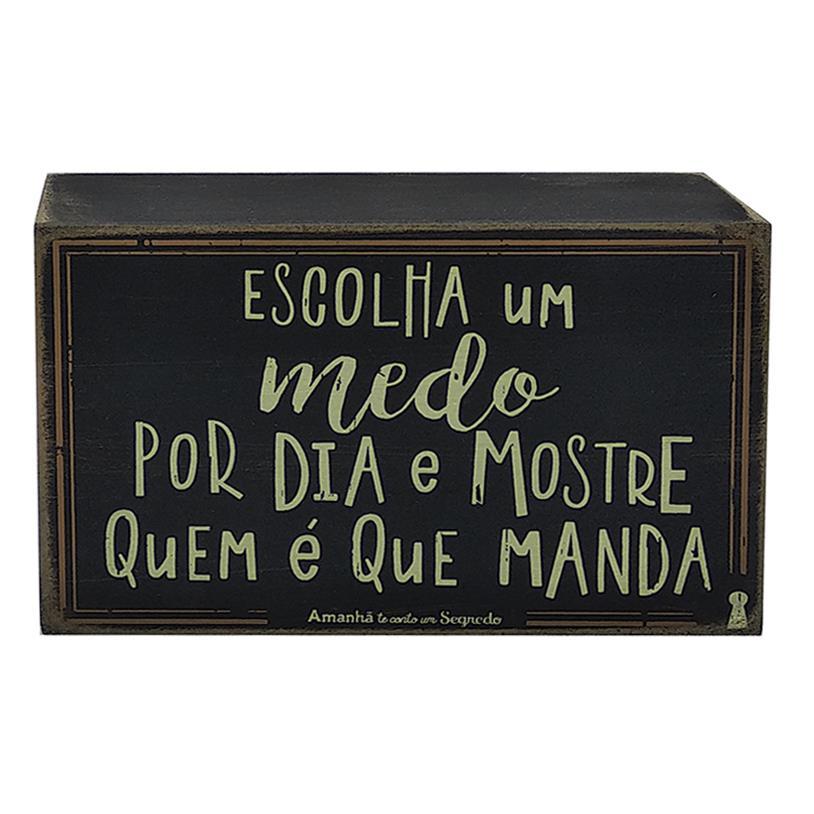 QUADRO BOX MEDO 10X15CM