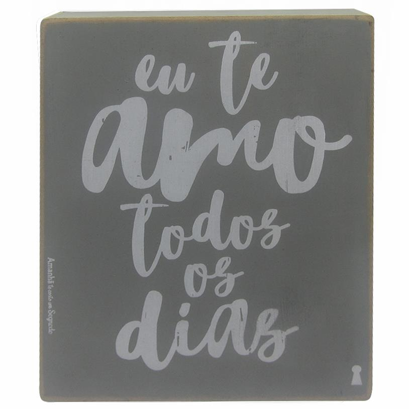QUADRO BOX AMO TODOS OS DIAS 15X20CM