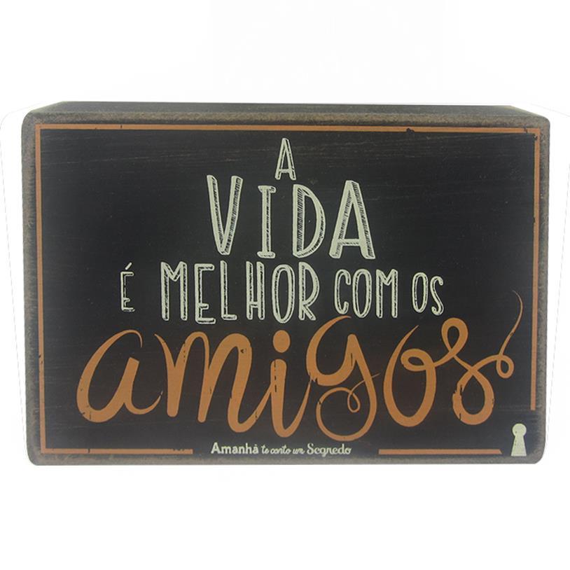 QUADRO BOX VIDA AMIGOS 10X15CM