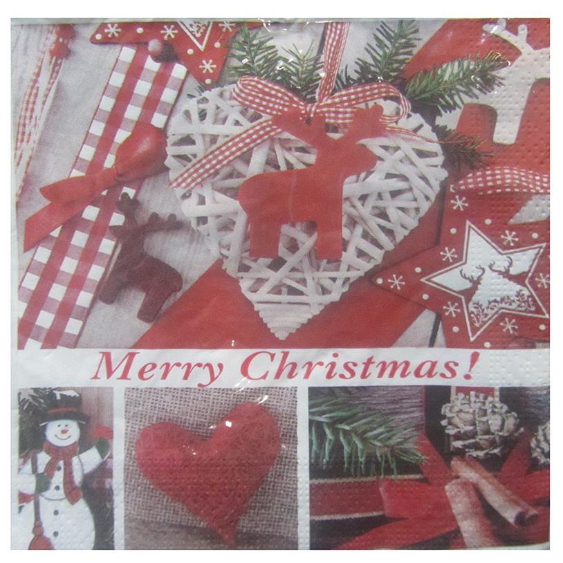 Imagem - GUARDANAPOS MERRY CHRISTMAS 20 PÇS 33CM cód: 34319