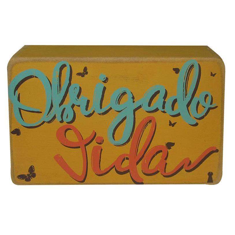 Imagem - QUADRO BOX OBRIGADO VIDA 10X15CM cód: 35414