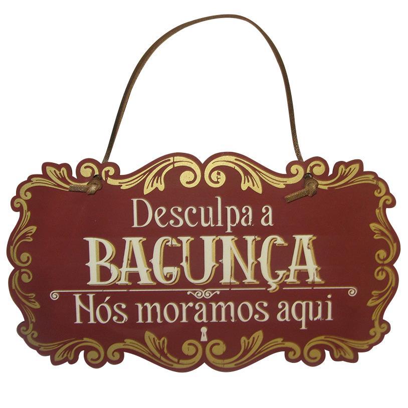 Imagem - PLACA DE PORTA BAGUNÇA cód: 35457