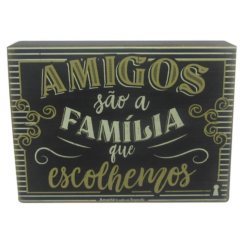 Imagem - QUADRO BOX AMIGOS FAMÍLIA 15X20CM cód: 36482