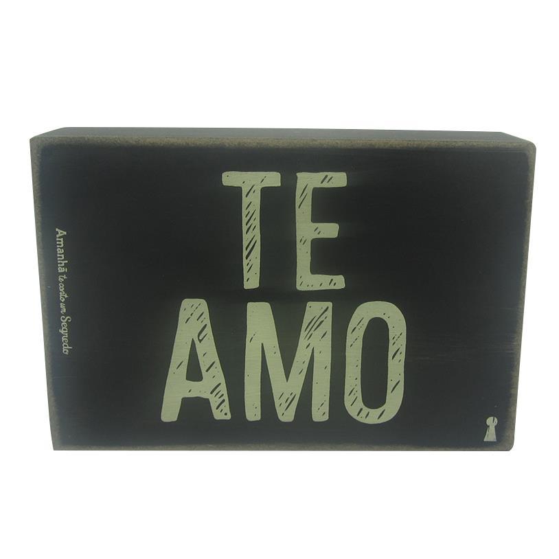 Imagem - QUADRO BOX TE AMO 10X15CM cód: 36473