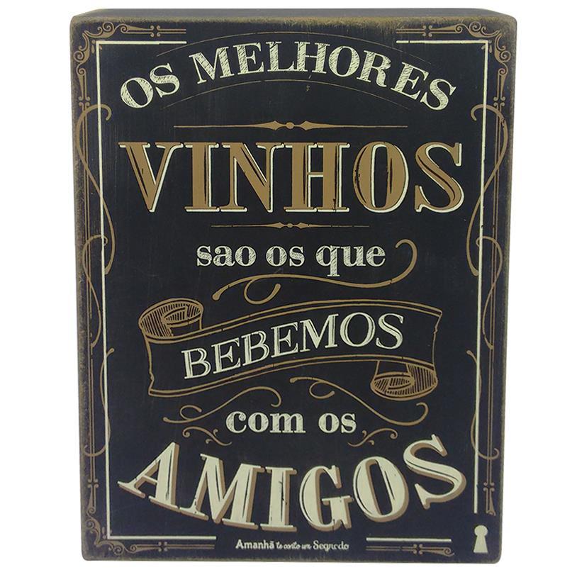 Imagem - QUADRO BOX VINHO AMIGOS 15X20CM cód: 37231