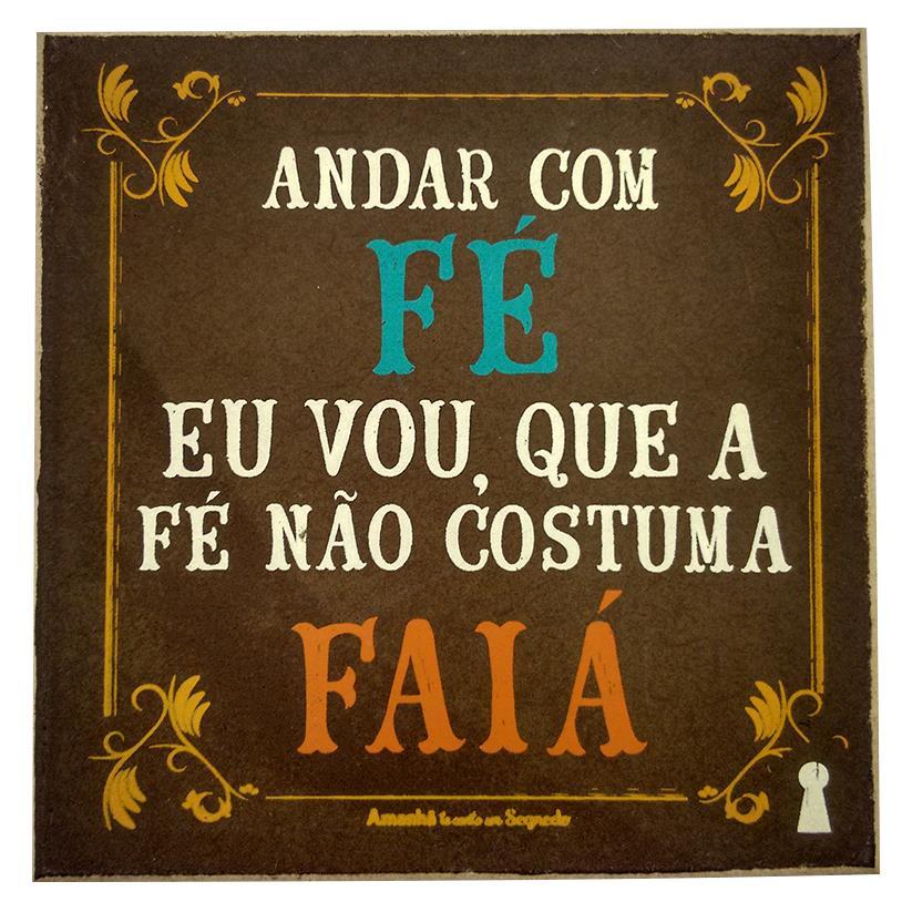 Imagem - IMÃ ANDAR COM FÉ 09X09CM cód: 37236