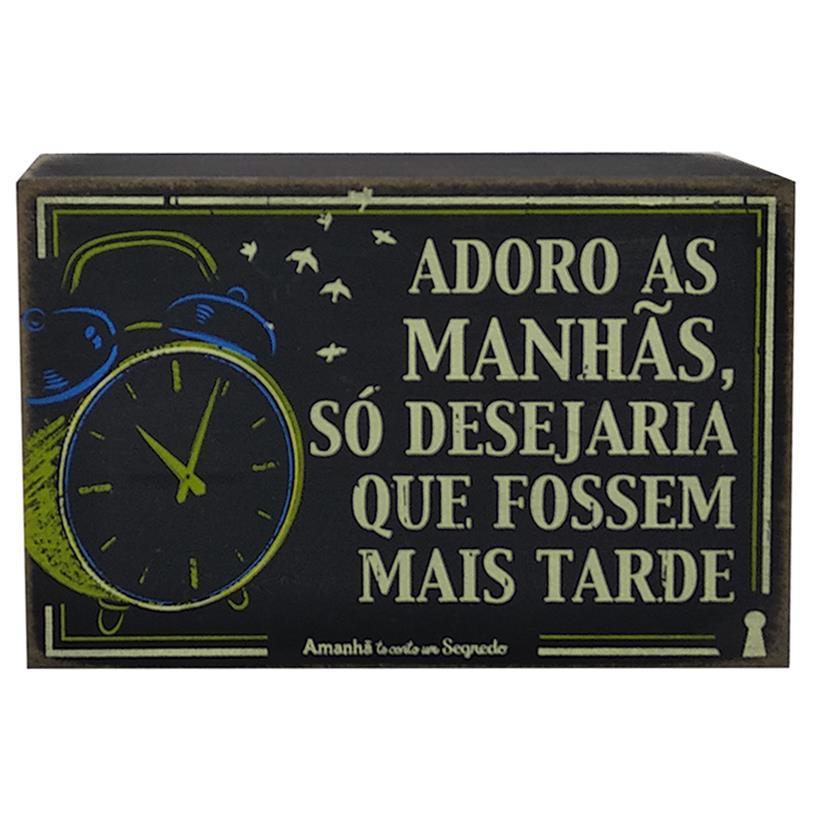 Imagem - QUADRO BOX MANHÃS 10X15CM cód: 37683