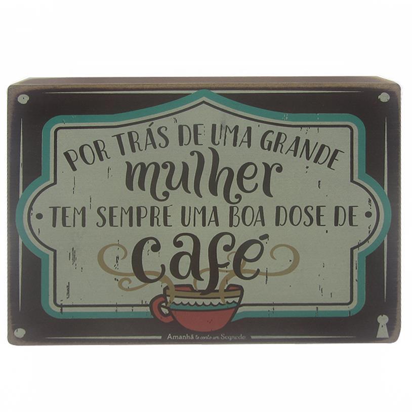 Imagem - QUADRO BOX MULHER CAFÉ 15X20CM cód: 38077