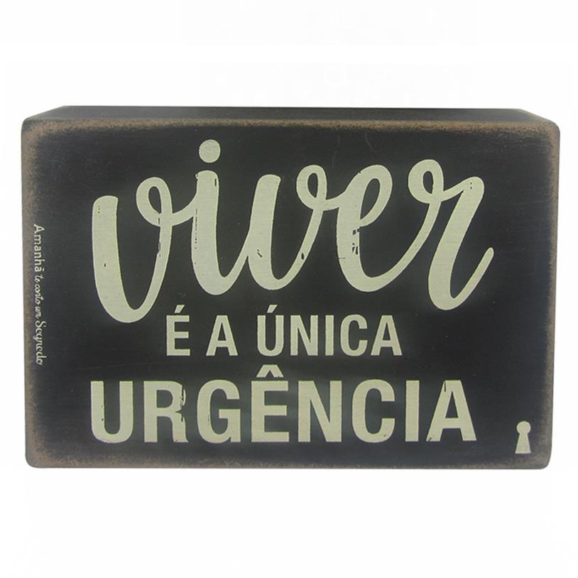 Imagem - QUADRO BOX VIVER URGÊNCIA 10X15CM cód: 38155