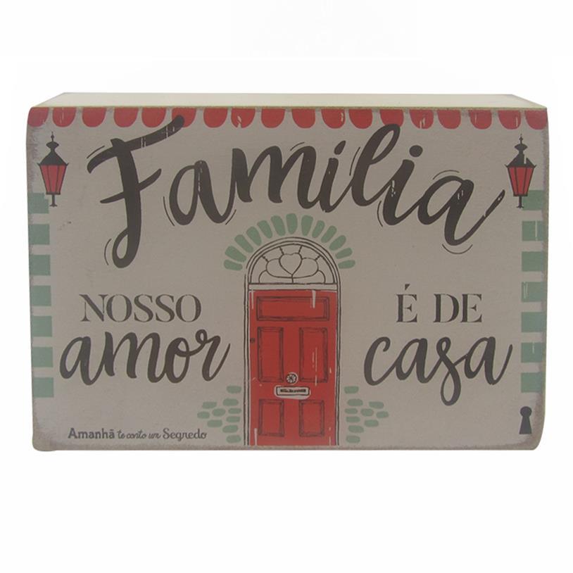Imagem - QUADRO BOX FAMÍLIA CASA 10X15CM cód: 38156
