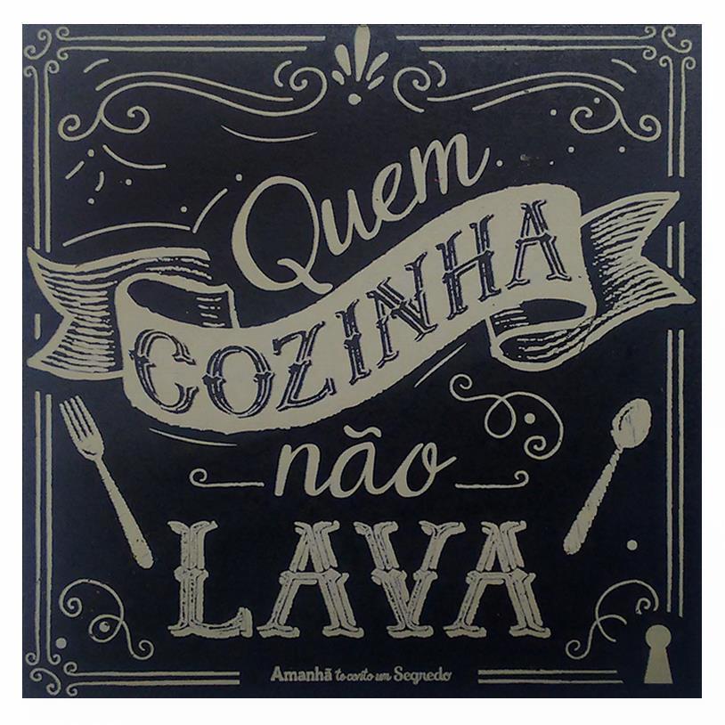 Imagem - IMÃ QUEM COZINHA NÃO LAVA 09X09CM cód: 38112