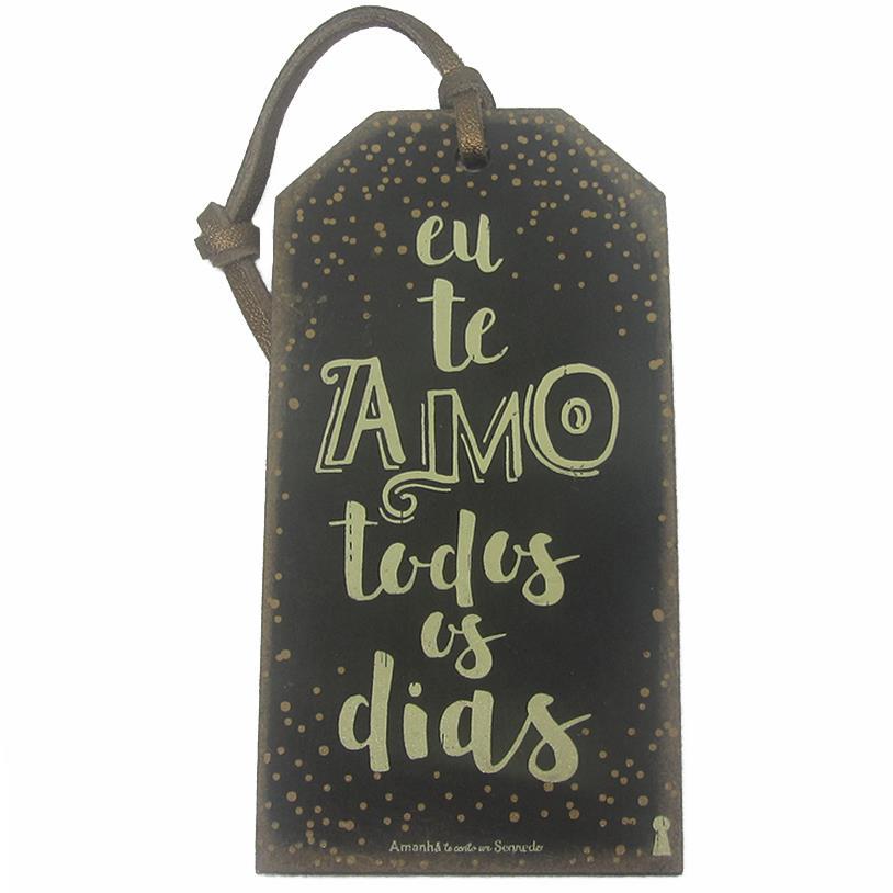 Imagem - TAG AMO TODOS OS DIAS 15X7,5CM cód: 38125