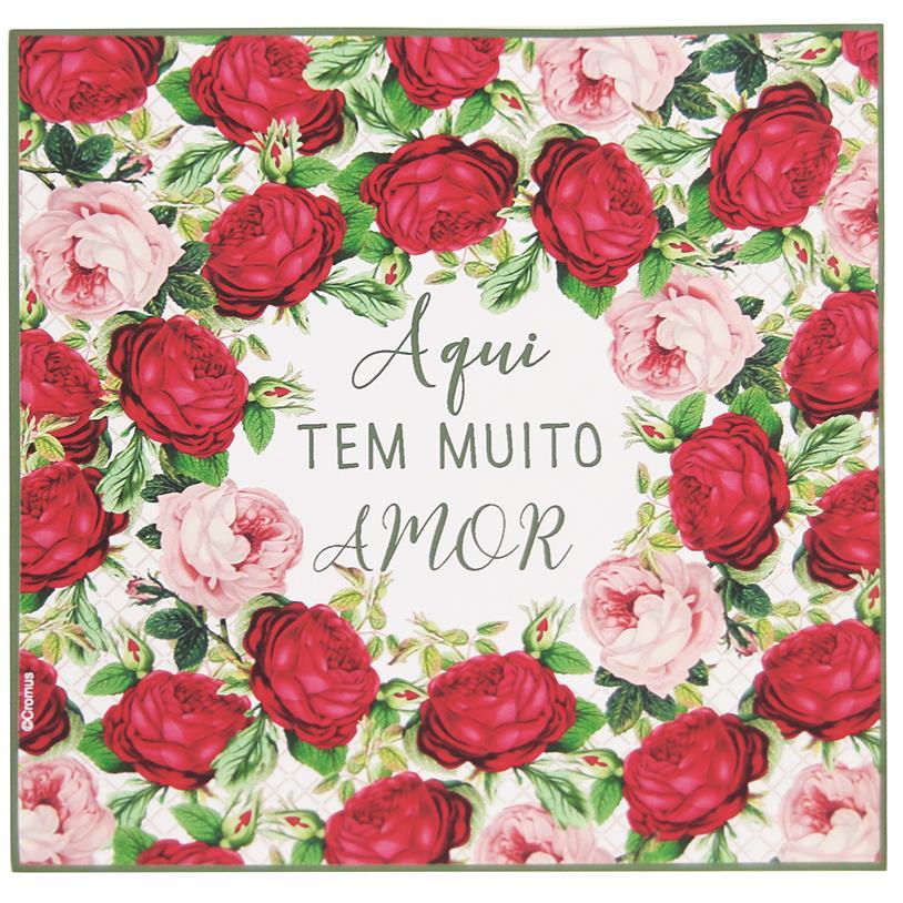 Imagem - GUARDANAPOS AMOR 20 PEÇAS 25X25CM cód: 38458