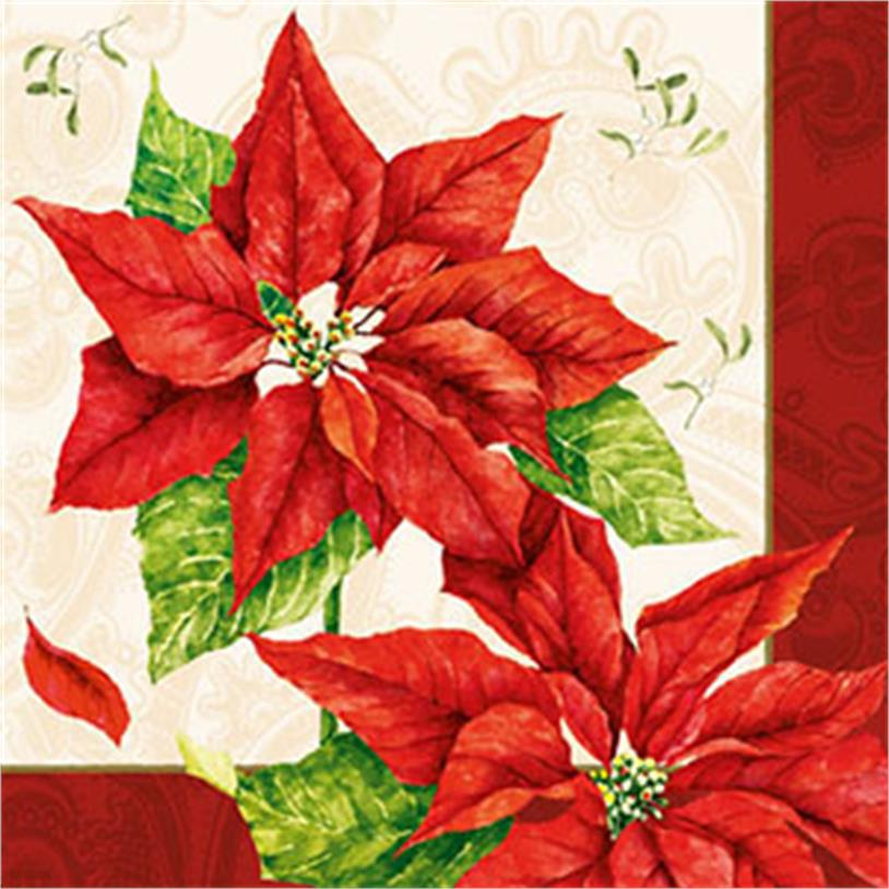 Imagem - GUARDANAPOS CHRISTMAS TIME RED 33CM cód: 38704