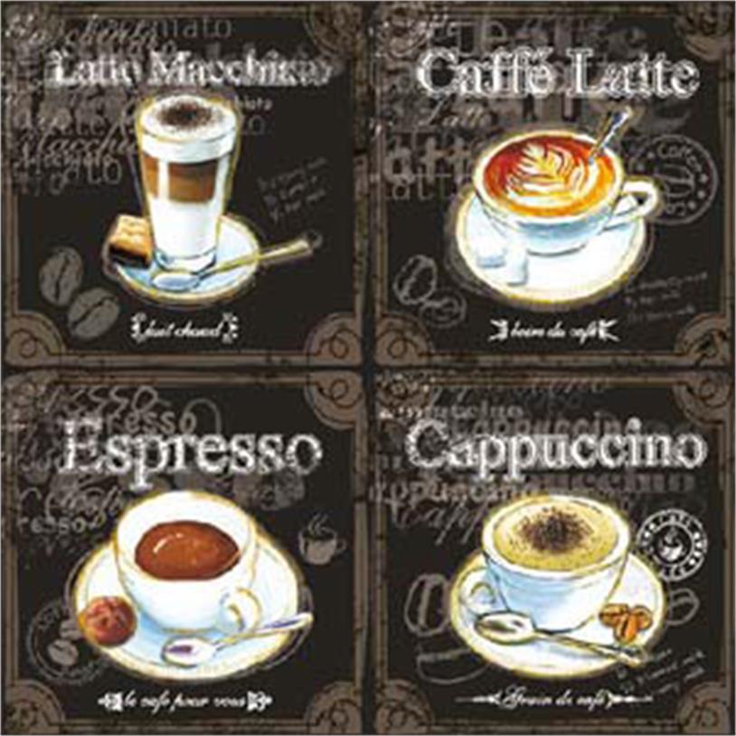 Imagem - GUARDANAPOS TYPES OF COFFEE 33CM 20 PÇS cód: 38726