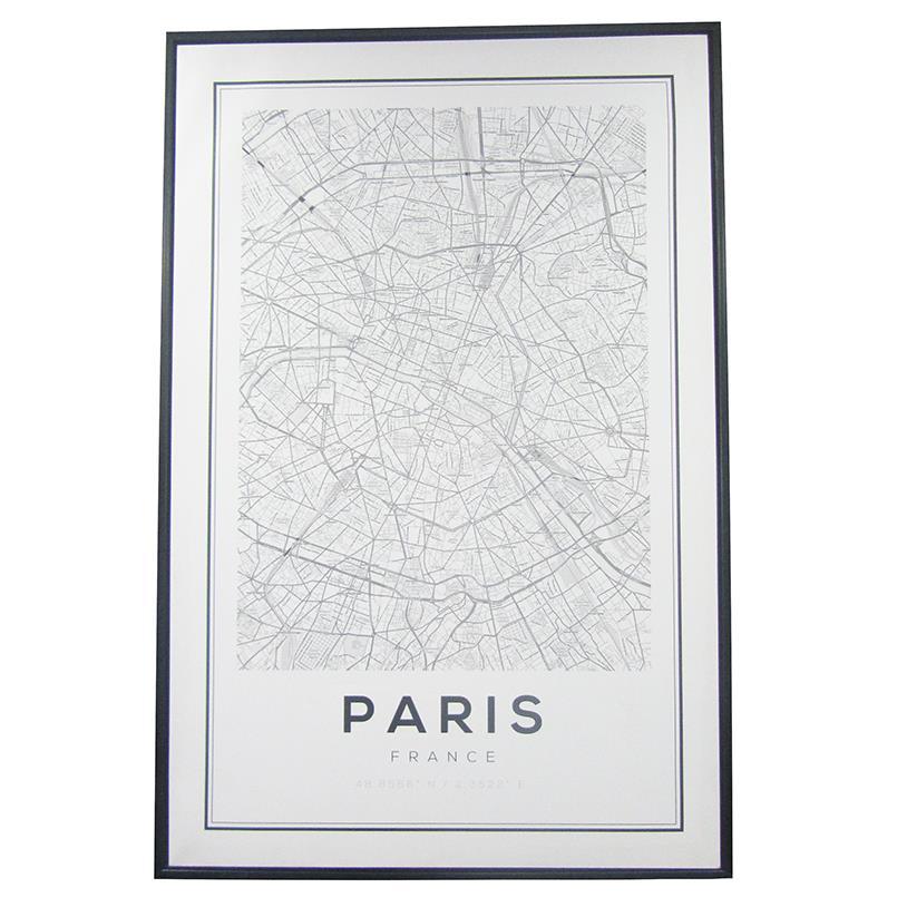Imagem - QUADRO RUAS DE PARIS 90X60CM cód: 39162