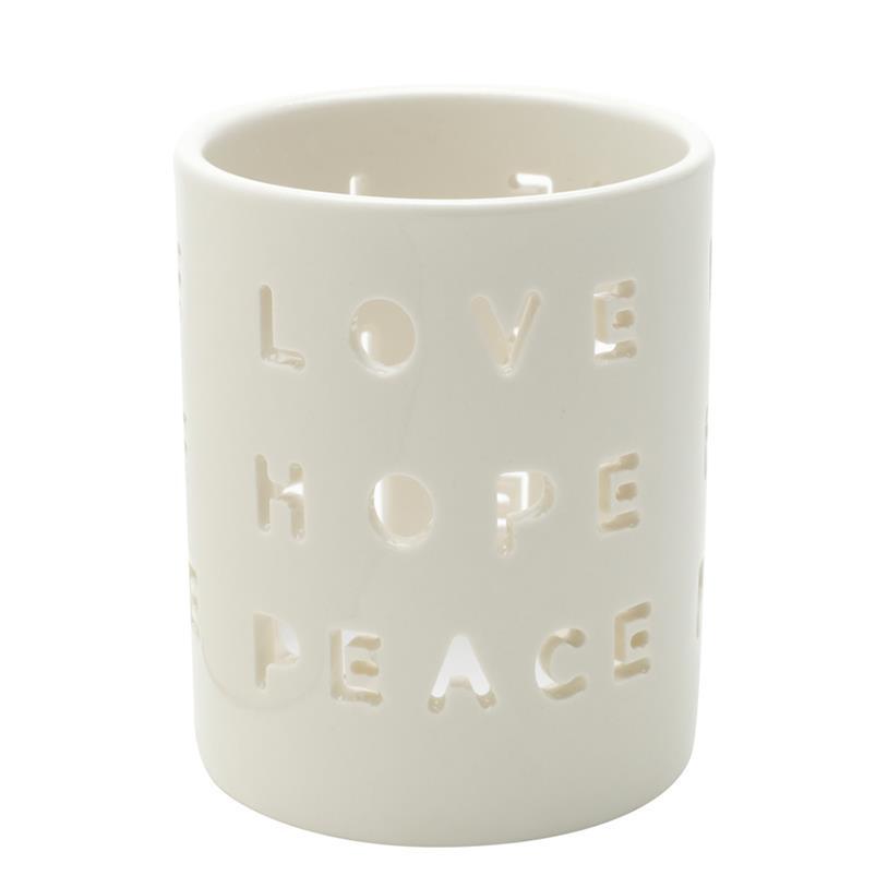 Imagem - CASTIÇAL LOVE HOPE PEACE 7,2X7,2X8,9CM cód: 39246