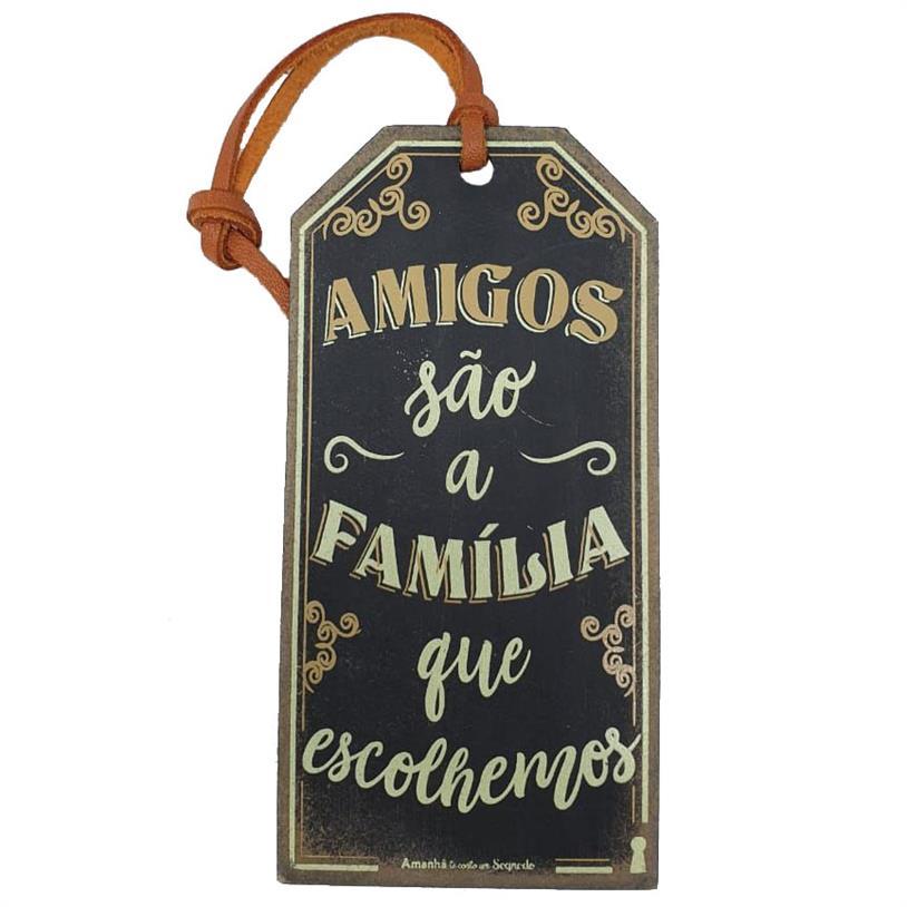 Imagem - TAG AMIGOS FAMILÍA 15X7,5CM cód: 39674